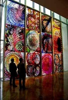 Pinterestville / Dale Chihuly's Rose Window, Minneapolis Institute of Arts, 1997 (colorful,art,fashion)