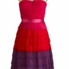 Max and cleo multicolor dress Brand new multi color max and Leo dress. Beautiful color and very flattering Max & Cleo Dresses Strapless