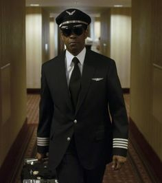 Denzel Washington is Whip Whitaker in Paramount Picture's FLIGHT Watched this movie yesterday,,, he makes a pilot uniform look real good, great movie. Great Movies, New Movies, Movies And Tv Shows, Tony Soprano, Pilot Uniform, Men In Uniform, Martin Scorsese, Breaking Bad, Vernon