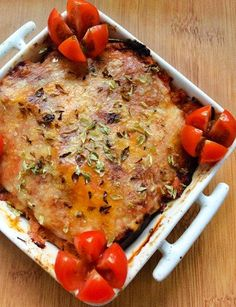 Lasanha de beringela (ou courgette) e atum