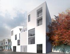 MC4 - Residential - Constanta, Romania - TAG architecture #housing #residential #white #windows #urban #architecture Constanta Romania, Urban Architecture, Bucharest, Landscape Design, Multi Story Building, Windows, Interior Design, Interiors, Nest Design