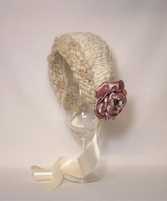 Vintage Inspired Knit Baby Bonnet Photo Prop Handspun by ElfSpun Vintage Style, Vintage Inspired, Vintage Fashion, Neutral Hats, Suri Alpaca, The Last Picture Show, Baby Bonnets, Hand Spinning, Photo Props