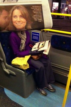 Bored Commuters Newspaper Photobombs - Photography - ShortList Magazine