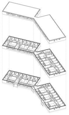 Social housing with solid stone walls by Perraudin Architecture Architecture Environnementale, Floor Plan Drawing, Residential Complex, Social Housing, Affordable Housing, Dezeen, Stone Houses, House Plans, Stone Walls