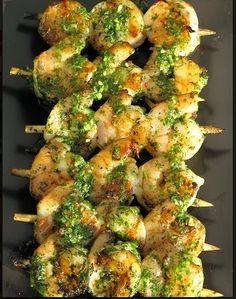 Cilantro Pesto Grilled Shrimp | Cake And Food Recipe