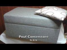 Pouf contenitore fai da te - YouTube