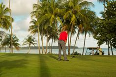What's better than finishing 18 holes in the Caribbean? Finishing 18 holes in the Caribbean at sunset. #MeetPuertoRico