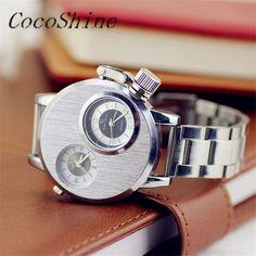 >> Click to Buy << CocoShine A-777  Fashion Men Fashion 2 Movement Sports Large Dial Watch Quartz Wrist Watches wholesale Free shipping #Affiliate