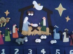 Pirate Ships and Sealing Wax...: Vintage Nativity Advent Remake