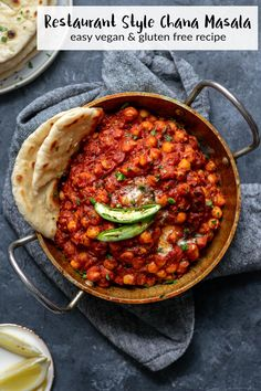 Restaurant Style Chana Masala-Restaurant Style Chana Masala This authentic restaurant style chana masala recipe is incredibly easy to make and so flavorful and delicious. Serve it with basmati rice and garlic naan. Fried Fish Recipes, Veg Recipes, Indian Food Recipes, Vegetarian Recipes, Cooking Recipes, Cooking Beef, Authentic Indian Recipes, Vegan Indian Food, Punjabi Recipes