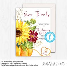 eat drink and be thankful invite thanksgiving invitation printable