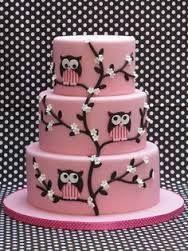 Resultado de imagen para tortas decoradas infantiles de buhos nenas