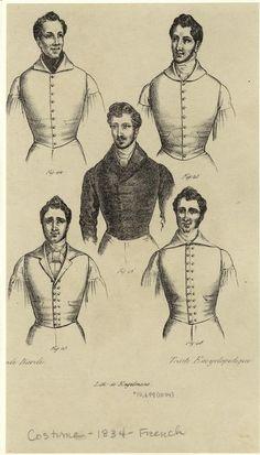 [Men dressed in vests, France, 1834.] Men -- Clothing & dress -- France -- 1830-1839