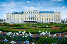 Rundāle Palace (Latvian: Rundāles pils; German: Schloss Ruhental, formerly also Ruhenthal and Ruhendahl) is one of the two major baroque palaces built for the Dukes of Courland in what is now Latvia, the other being Jelgava Palace. The palace was built in two periods, from 1736 until 1740 and from 1764 until 1768. It is situated at Pilsrundāle, 12 km west of Bauska.