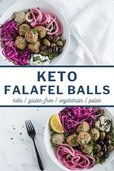Finally! A falafel that is low-carb, paleo and chickpea free! This Keto Falafel recipe uses basic ingredients like cauliflower, walnut meal, coconut flour, eggs and spices to replicate the taste and texture of traditional falafel minus the carbs and legumes. Perfect for enjoying as an appetizer with some tahini, on a bed of lettuce, or in a pita as a sandwich. #cauliflowerrecipes #cauliflowerfalafel #ketofalafel #ketofalafelrecipe #ketofalafellowcarb Ketogenic Recipes, Real Food Recipes, Vegetarian Recipes, Healthy Recipes, Lunch Recipes, Keto Side Dishes, Main Dishes, Bite Size Food, Falafel Recipe