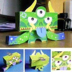 Yakubyôgami de Jerom    http://www.paper-toy.fr/2013/03/08/yakubyogami-de-jerom/    #papertoys #papercraft #paper #arts #toys #monster #Yokais #DIY