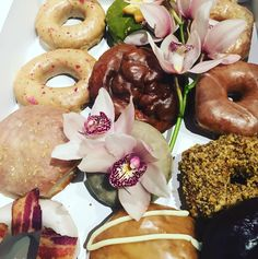 cool vancouver florist Thanks Jordan @cartemsdonuts for choosing us some magnificent donuts. Donuts and flowers what a wonderful combo. #flowerfactory #donuts #foodandflowers @flowerfactoryfoodies by @flowerfactory  #vancouverflorist #vancouverflorist #vancouverwedding #vancouverweddingdosanddonts