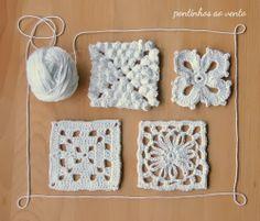 pontinhos ao vento: Beyond the squares - Crochet Motifs