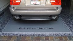 The Heavy Duty Clean Park Garage Mat is a heavy-duty 50 mil. vinyl mat that protects your garage floor and has a warranty. Vinyl Garage Flooring, Octagon Picnic Table, Garage Floor Mats, Used Tires, Thing 1, Backyard Sheds, Slip And Fall, Car Mats, Garage Organization
