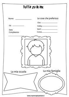Per i primi giorni di scuola in cui bisogna imparare a conoscersi, abbiamo preparato queste schede didattiche di presentazione. Oggi inseriremo la versione per il bambino e domani avrete quella per le bambine. Ognuno inserirà poche parole che serviranno come prensentazione di se stessi ma