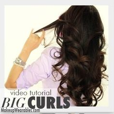 This curly hair do will look perfect for any occasion. Watch this 8:01 video tutorial on how to do these beautiful big curls.
