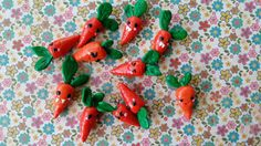 cute carrot polymer charm by Kats13stuff on Etsy