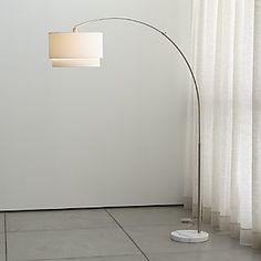 Shop Dexter Arc Floor Lamp with Grey Shade. Grey on grey lamp arcs ...