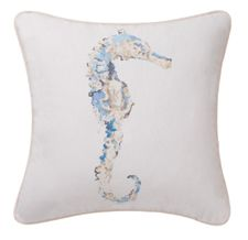 "Seahorse Pillow 18"" x 18""	$34.95/ea..on small chair with throw"