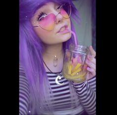 Hanna #purplehair #purple #ohhh #cute #pretty #kitty#milkgore #milkwhore #scene#hair