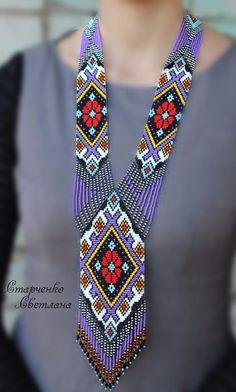 Handmade Beaded Necklace Gerdan  Ukrainian  | eBay