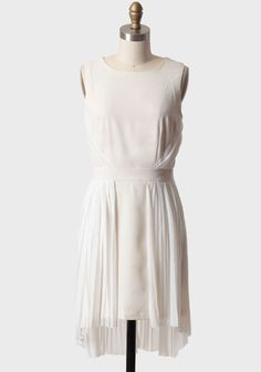 Passion Within Pleated Dress In Ivory   Modern Vintage New Arrivals