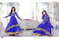 Stunning Anarkali Ceremonial Suit with Glossy Zari Resham and Thread Embroidery