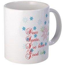 Dear Santa, I've been Good-ish 11 oz Ceramic Mug Dear Santa, I've been Good-ish Mugs by Adrianne_Desire - CafePress Dear Santa, Mug Designs, Drinkware, Good Things, Ceramics, Mugs, Tableware, Color, Ceramica
