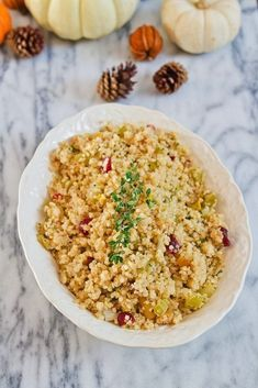 A twist on a traditional favorite, this gluten-free quinoa stuffing with apples, pistachios, and dried cranberries is a healthy, whole grain side dish. #stuffing #quinoa #thanksgiving #eatingbirdfood Healthy Thanksgiving Recipes, Gluten Free Thanksgiving, Fall Recipes, Real Food Recipes, Healthy Recipes, Holiday Recipes, Diet Recipes, Holiday Side Dishes, Thanksgiving Side Dishes