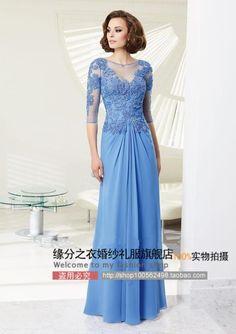 Barato 2014 europeu e americano azul escuro rendas vestido de dama de honra de noiva brinde o novo outono e inverno de manga comprida vestido de festa vestido, Compro Qualidade Vestidos de Madrinha diretamente de fornecedores da China: