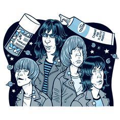 www.dannyhellman.com - The Ramones - illustration for The Onion AV Club