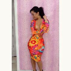 Women's Fashion Sexy Club Printing Dress – USD $ 32.89