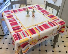 Vintage WILENDUR Tablecloth Festive Mexican by unclebunkstrunk