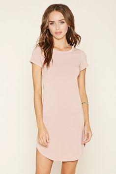 Curved-Hem T-Shirt Dress
