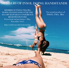 Hawaii - handstands. Insolvency Conference November 13-15. 40% off registrations if book before May1 2016
