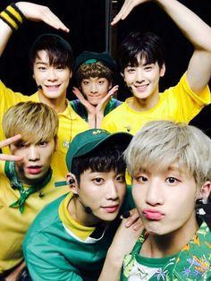 Astro😇😀 My cute group ever 💙🌻😍 Korean Bands, South Korean Boy Band, K Pop, Astro Eunwoo, Kim Myungjun, Astro Sanha, Jinjin Astro, Park Jin Woo, Astro Wallpaper
