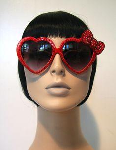 Items similar to Sweetheart Red Sunglasses Accessory Sunnies Cute Kawaii  Lolita Retro by Cutie Dynamite on Etsy 0051ece3ae59