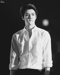 Oh Sehun (EXO) More // not gonna lie. I'm not even in this band, although obviously I know who EXO is, but Sehun is very attractive 😳 Kaisoo, Chanbaek, Exo Minseok, Chanyeol Baekhyun, Kim Jongin, Park Chanyeol, Sehun Hot, Btob, K Pop
