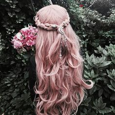 life is too short to have boring hair rot lila rosa Haare Kostenloser Versand synthetische Spitze Fr Pretty Hairstyles, Braided Hairstyles, Braided Locs, Hairstyle Ideas, Fantasy Hairstyles, Quiff Hairstyles, Scene Hairstyles, Hairstyles 2018, Rose Hair Color