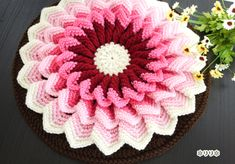 お花の円座 (Crochet Seat Cushion - Flower)