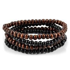 Buy Collin Rowe - Brown & Black Bead Bracelet Combo for only Shop at Trendhim and get returns. We take pride in providing an excellent experience. Trendy Bracelets, Black Bracelets, Bracelets For Men, Pearl Bracelet, Paracord Bracelets, Beaded Bracelets, Engraved Bracelet, Braided Leather, Diy Jewelry Making