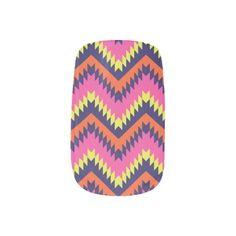 Aztec Tribal Chevron Minx Nail Wraps