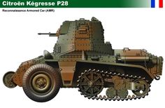 Kégresse P-28 (Armoured Reconnaissance Vehicle)