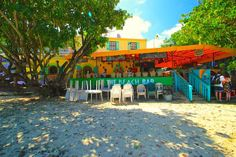 The Beach Bar, St. John, US Virgin Islands – The Beach Bar That Needs No Name. #USVI #Caribbean