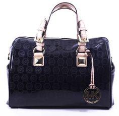 Michael Kors Women's Grayson Satchel Black Handbag